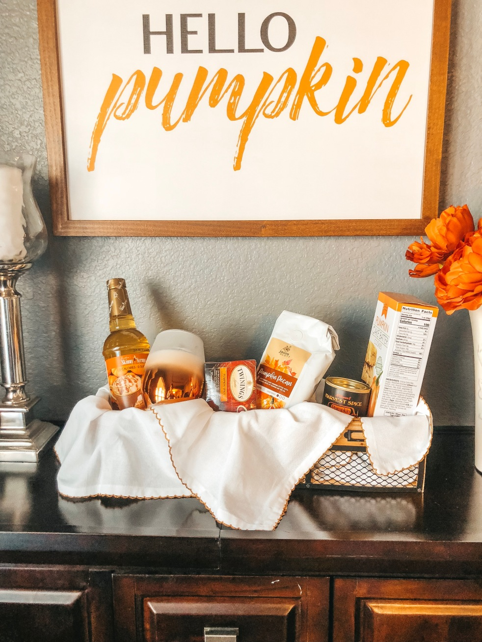 Fall Hostess Gift, Pumpkin Hostess Gift
